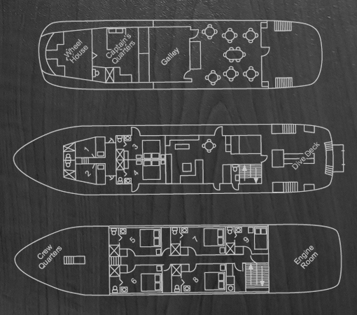 Truk Lagoon ship floorplan